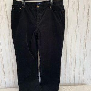 CHAPS Black Corduroy Pants Size 16W
